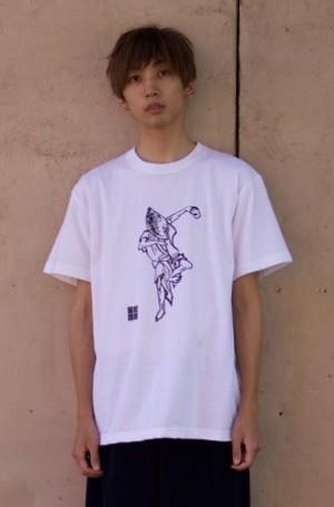 T shirt 白水阿呆 白 L